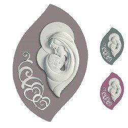 capoletto maternità in ceramica con decoro in argento