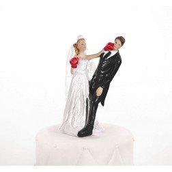 cake topper sposi sposa pugno pugilato boxing  per torta matrimonio