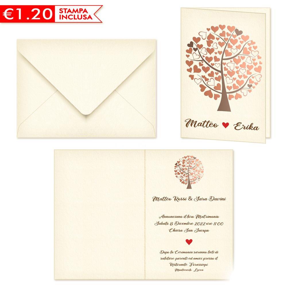 Stampa Partecipazioni Matrimonio.Partecipazioni Matrimonio Tema Albero Della Vita 2020