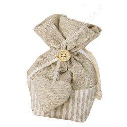 sacchetti portaconfetti con cuore shabby in offerta