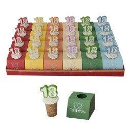 torta 24 scatoline porta confetti bomboniere diciottesimo 18 compleanno