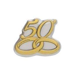 applicazione argento numero 50 anniversario nozze oro grande