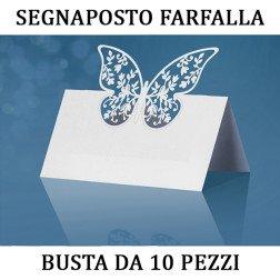 10 pezzi segnaposto farfalla per tavolo