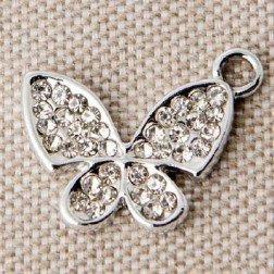 ciondolo farfalla con strass