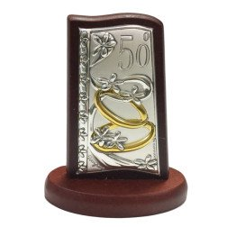 icona tegola lamina d'argento 50° anniversario